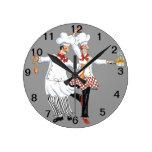 Reloj de pared de los cocineros
