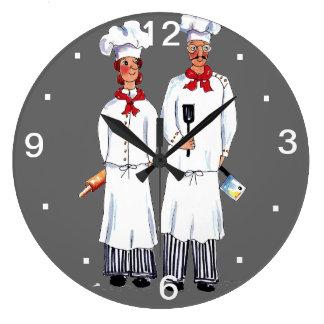 Reloj de pared de los cocineros de Kniving