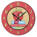 Reloj de pared de los días escolares