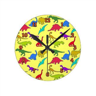 Reloj de pared de los dinosaurios