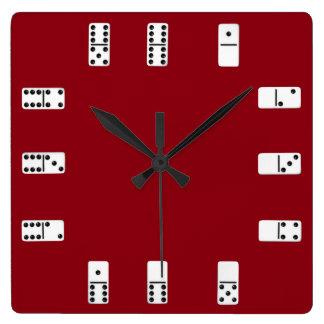 Reloj de pared de los dominós