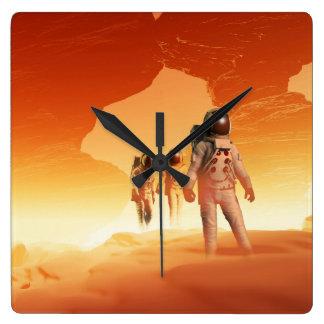 Reloj de pared de los exploradores de Marte