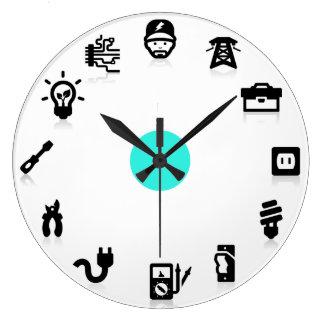 Reloj de pared de los iconos del trabajo eléctrico