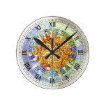 Reloj de pared de los mosaicos de Guell del parque