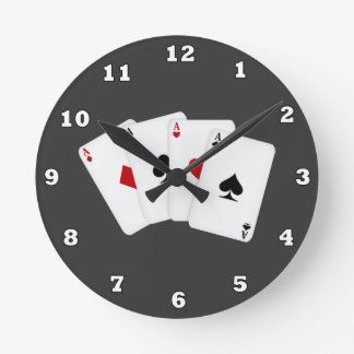 Reloj de pared de los naipes del dibujo animado