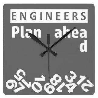 Reloj de pared de los números del plan de los