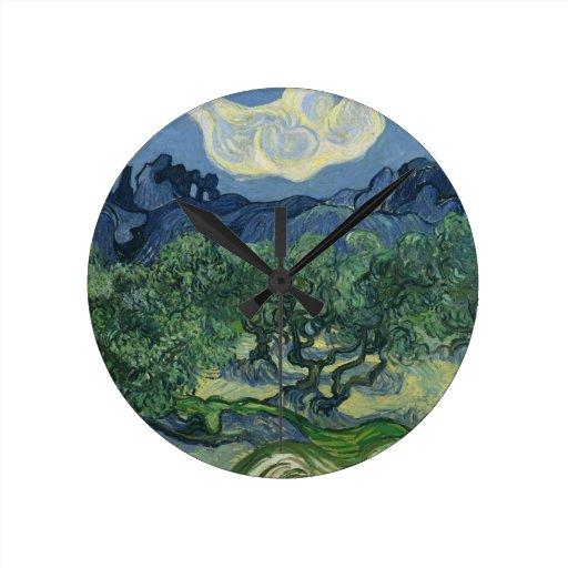 Reloj de pared de los olivos