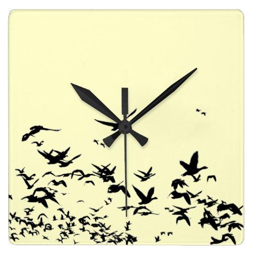 Reloj de pared de los pájaros de los gansos de nie