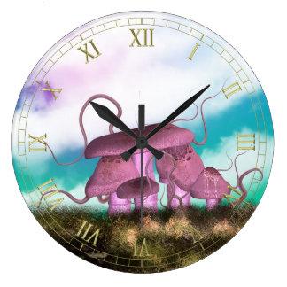Reloj de pared de los Toadstools de la fantasía