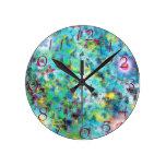 reloj de pared de lujo del arte abstracto