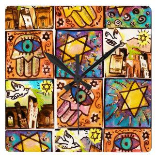 Reloj de pared de marfil de Israel de la noche