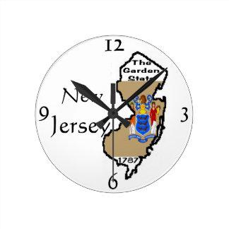 Reloj de pared de New Jersey