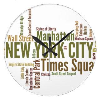 Reloj de pared de NEW YORK CITY