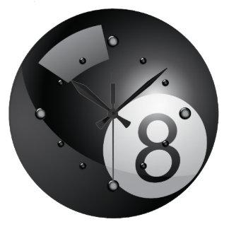 Reloj de pared de ocho bolas