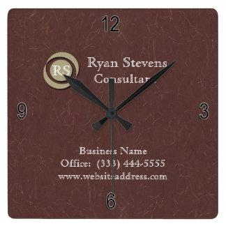Reloj de pared de papel marrón elegante del