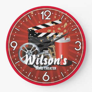 Reloj de pared de Personalizable del cine del