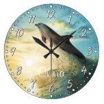 Reloj de pared de Personalizable del delfín