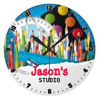 Reloj de pared de Personalizable del estudio del