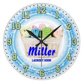Reloj de pared de Personalizable del lavadero