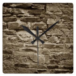 Reloj de pared de piedra