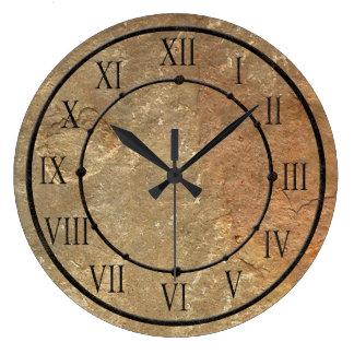 Reloj de pared de piedra elegante de la mirada