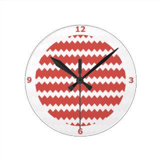 Reloj de pared de Pimienta en el zigzag Chevron