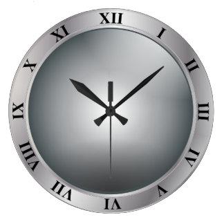 Reloj de pared de plata