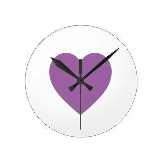 Reloj de pared de Purple Heart