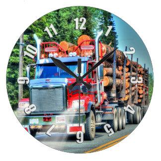 Reloj de pared de registración del camión del