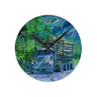 Reloj de pared de registración del transporte de l