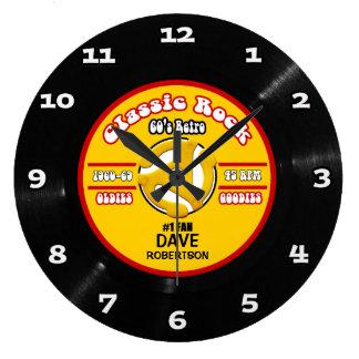 Reloj de pared de registro personalizado del