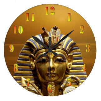 Reloj de pared de rey Tut Round de Egipto