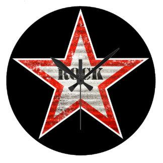 Reloj de pared de Rockstar (texturas del grunge)