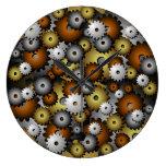 Reloj de pared de Steampunk de los dientes/de los