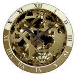 Reloj de pared de Steampunk que muestra los