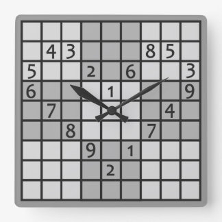 Reloj de pared de SUDOKU