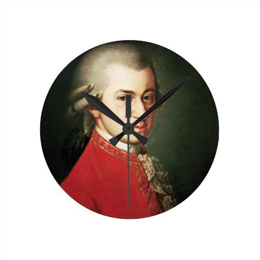 Reloj de pared de Wolfgang Amadeus Mozart
