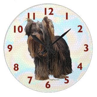 Reloj de pared de Yorkshire Terrier