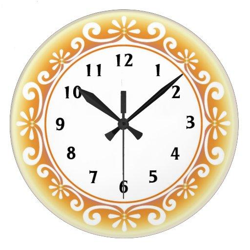 Reloj de pared decorativo:: Amarillo de oro