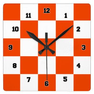 Reloj de pared decorativo anaranjado de las