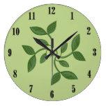 Reloj de pared decorativo de las vides verdes