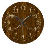 Reloj de pared decorativo de madera del infinito