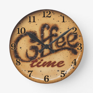 Reloj de pared decorativo del tiempo del café