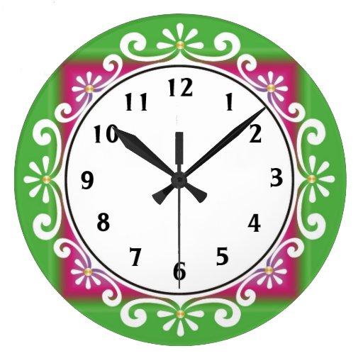 Reloj de pared decorativo:: Verde