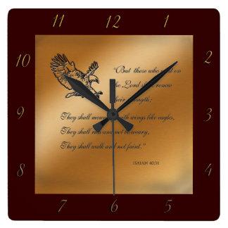 Reloj de pared del 40:31 de Isaías
