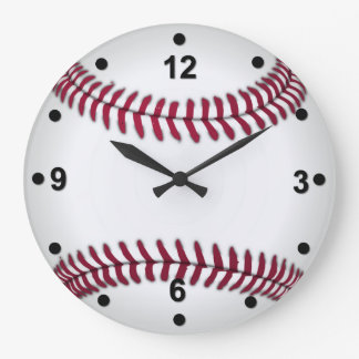 Reloj de pared del aficionado al béisbol
