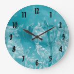 Reloj de pared del agua azul de Torquiose