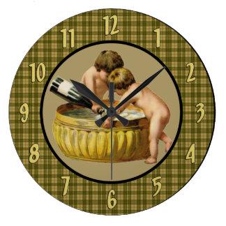 Reloj de pared del Año Nuevo del vintage