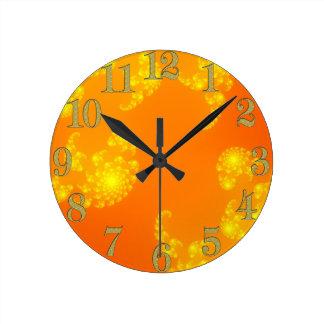 Reloj de pared del arte abstracto del fractal de J
