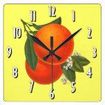 Reloj de pared del arte del cajón del vintage de l
